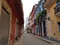 Casas viejas coloridas en la ciudad La Habana Cuba fotografía de archivo libre de regalías