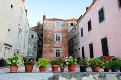 Casas viejas de Dubrovnik Foto de archivo libre de regalías
