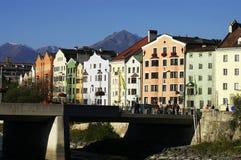 Casas viejas de Innsbruck Foto de archivo