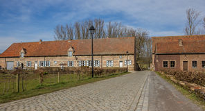 Casas viejas de la abadía de Vlierbeek cerca de Lovaina Imagenes de archivo