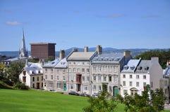 Casas viejas de la ciudad de Quebec fotos de archivo libres de regalías