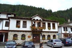 Casas viejas de la montaña Foto de archivo libre de regalías