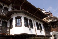 Casas viejas de la opinión de la ciudad Foto de archivo libre de regalías