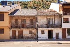 Casas viejas de Villafranca del Bierzo Fotos de archivo