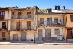 Casas viejas de Villafranca del Bierzo Foto de archivo libre de regalías