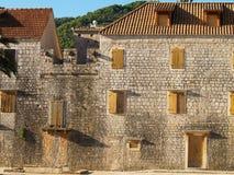 Casas viejas del ladrillo Fotos de archivo