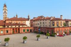 Casas viejas del racconigi, Italia Imagen de archivo