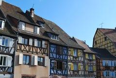 Casas viejas en Colmar Fotografía de archivo