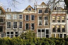 Casas viejas en el damplein, middelburg Imagenes de archivo