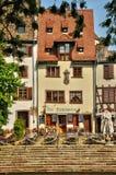 Casas viejas en el distrito del La Petite France en Estrasburgo Fotos de archivo