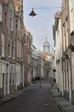 Casas viejas en el verwerijstraat, middelburg Imagen de archivo libre de regalías