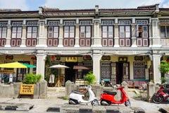 Casas viejas en Georgetown en Penang, Malasia foto de archivo libre de regalías