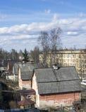 Casas viejas en la ciudad Foto de archivo libre de regalías