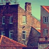 Casas viejas en la ciudad Imagenes de archivo