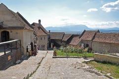 Casas viejas en la fortaleza de Rasnov Fotografía de archivo