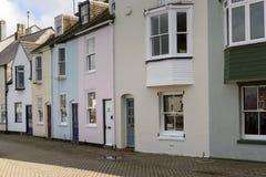 Casas viejas en Weymouth, Dorset Foto de archivo libre de regalías