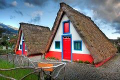 Casas viejas típicas en Madeira Fotos de archivo libres de regalías