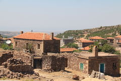 Casas, vilas egeias Fotografia de Stock Royalty Free