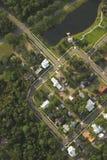 Casas, vista aérea imagens de stock royalty free