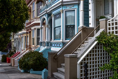 Casas vitorianos em San Francisco Imagem de Stock Royalty Free