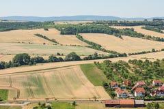 Casas y campos Foto de archivo