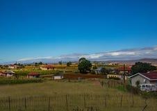 Casas y chozas en el Eastern Cape de Suráfrica Foto de archivo