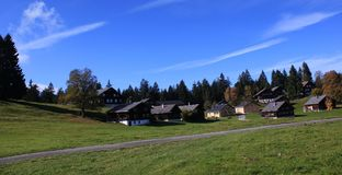 Casas y cielo Fotografía de archivo