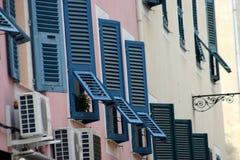 Casas y edificios corsos Imagenes de archivo