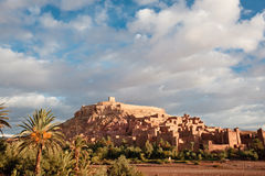 Casbah Ait Benhaddou, Morocco. Ait Benhaddou  is a fortified city, or ksar, along the former caravan route between the Sahara and Marrakech in present-day Stock Images
