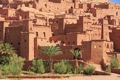 Casbah Ait Benhaddou Morocco. The fortified town of Ait ben Haddou near Ouarzazate on the edge of the sahara desert in Morocco. Taken as dawn broke. Famous for Stock Photography