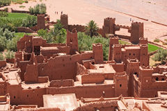 Casbah Ait Benhaddou Morocco. The fortified town of Ait ben Haddou near Ouarzazate on the edge of the sahara desert in Morocco. Taken as dawn broke. Famous for Royalty Free Stock Photo