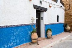 casbah drzwi dom Rabat Fotografia Royalty Free