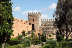Casbah Garden in Rabat, Morocco Stock Photos