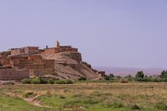 Casbah near Ouarzazate in Moroc Royalty Free Stock Photo