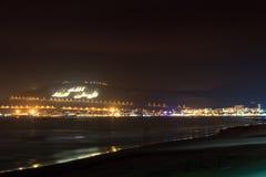 Casbah przy nocą, Agadir, Maroko Obrazy Royalty Free