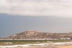 Casbahen på sommardagen, Agadir, Marocko Arkivfoto