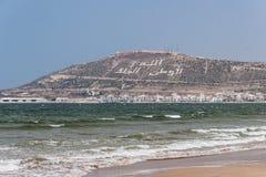 Casbahen på sommardagen, Agadir, Marocko Arkivbild
