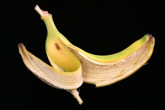 Casca da banana Fotos de Stock Royalty Free