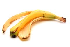 Casca da banana foto de stock