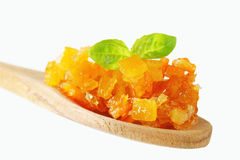 Casca de citrino cristalizado imagem de stock