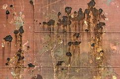 Casca oxidada do navio foto de stock