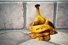 Casca triste da banana Fotografia de Stock