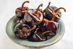 Cascabel Chili Peppers royalty free stock images
