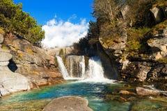 Cascada - Adamello Trento Italia Foto de archivo libre de regalías