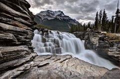 Cascada Alberta de Athabasca Fotografía de archivo