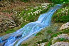 Cascada azul Foto de archivo