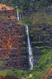 Cascada, barranco de Waimea, Kauai, Hawaii Fotografía de archivo libre de regalías