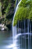 Cascada Bigar. El parque nacional Cheile Nerei RUMANIA Foto de archivo