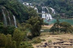 Cascada Bondjok Vietnam del norte imágenes de archivo libres de regalías
