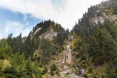 Cascada Cailor/Horses Waterfall. Horses Waterfall is the tallest waterfall in Romania with a total height of 80 m (262 ft) split over several steps, the highest Royalty Free Stock Images